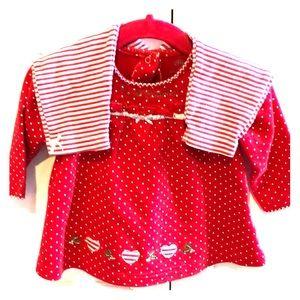 'My 1st Christmas'12m grl LS shirt & pants outfit.
